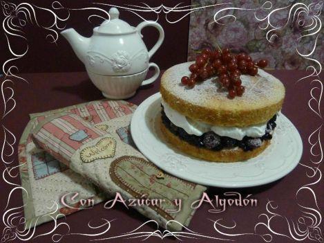 Victoria Sponge Cake con su toque de algodón