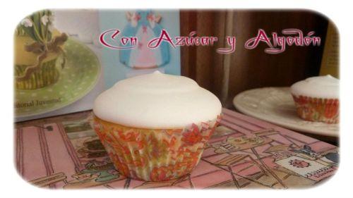 Cupcakes de Lima y Frambuesas