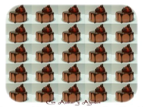 Tarta Cremosa de Chocolate y Fresas