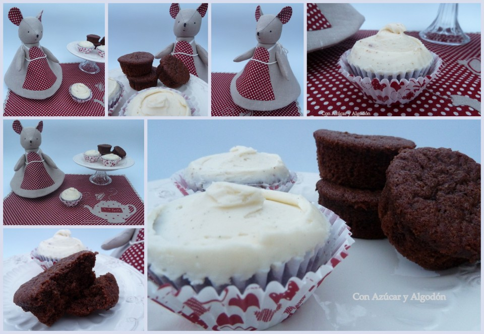Cupcakes de chocolate y vainilla