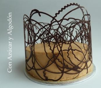 Tarta de Chocolate y Toffe con enrejado de Chocolate Negro