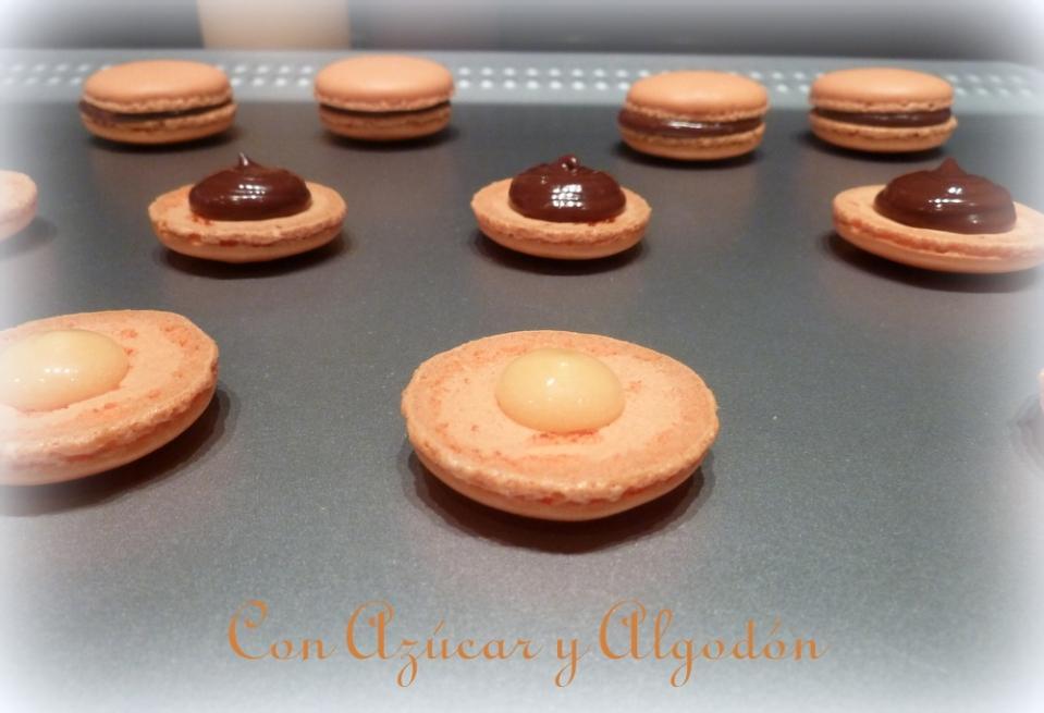Macarons de Naranja con Chocolate y Curd de Naranja