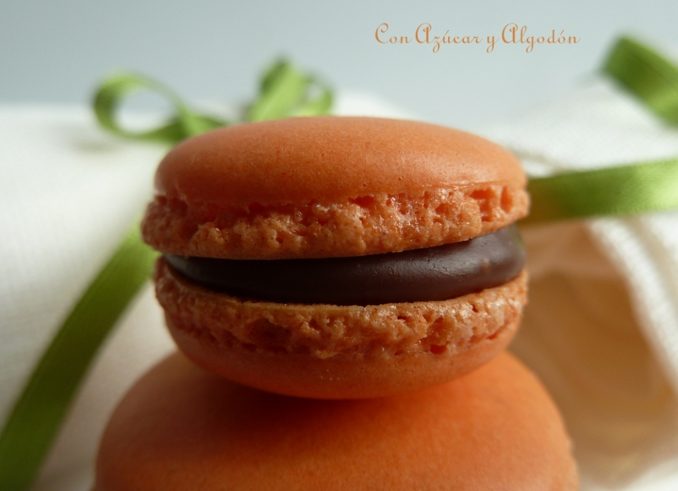 Macarons de Naranja y Chocolate