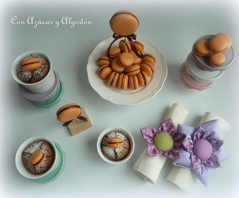 Pasión de chocolate y Macarons de Naranja