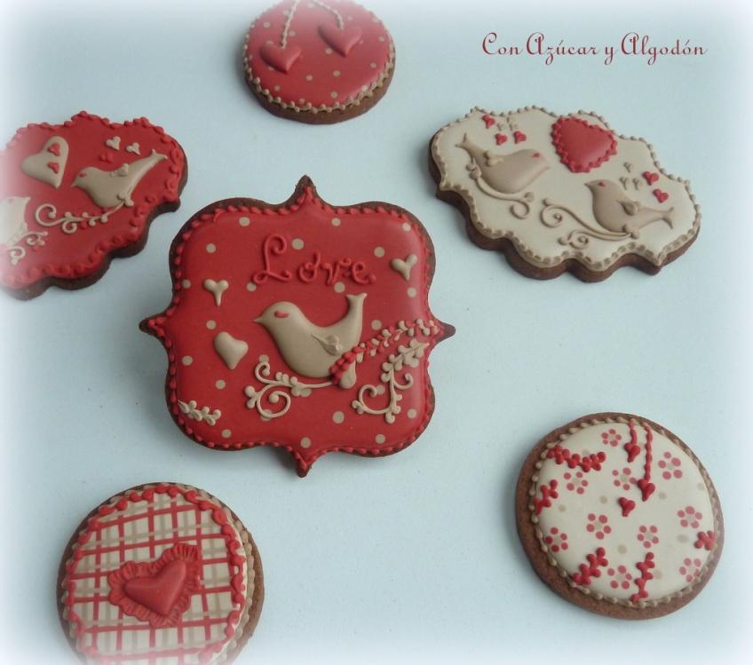 Galletas Decoradas Para San Valentín Con Azúcar Y Algodón